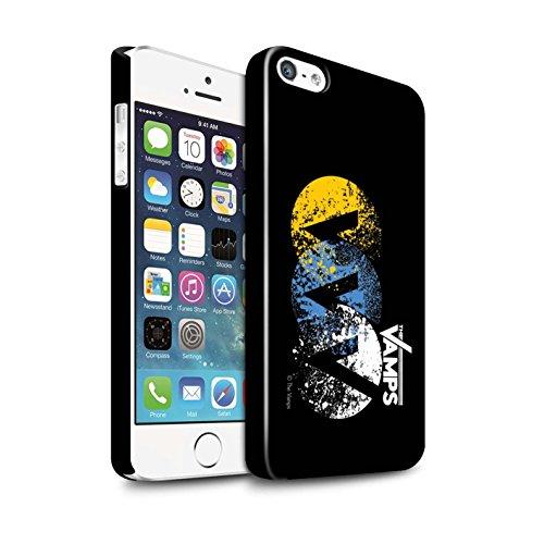 Officiel The Vamps Coque / Clipser Brillant Etui pour Apple iPhone SE / Pack 6pcs Design / The Vamps Graffiti Logo Groupe Collection VVV