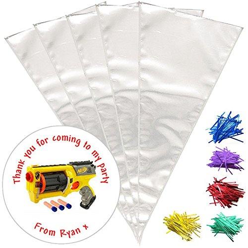 24-personalised-nerf-gun-do-it-yourself-sweet-cones-birthday-party-bags