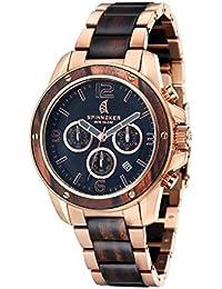 Spinnaker–sp-5027–22–Vessel–Armbanduhr–Quarz Chronograph–Zifferblatt schwarz Armband Stahl zweifarbig