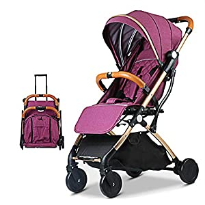 Lightweight Stroller,Compact Travel Buggy,One Hand Foldable,Five-Point Harness,Great for Airplane (Purple)   14