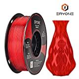 Filamento PETG Transparente Red 1.75 mm, filamento ERYONE PETG para impresora 3D y lápiz 3D, 1 kg, 1 Spool ...