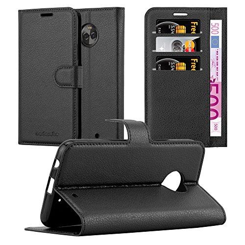 Cadorabo Hülle für Motorola Moto X4 - Hülle in Phantom SCHWARZ - Handyhülle mit Kartenfach & Standfunktion - Case Cover Schutzhülle Etui Tasche Book Klapp Style