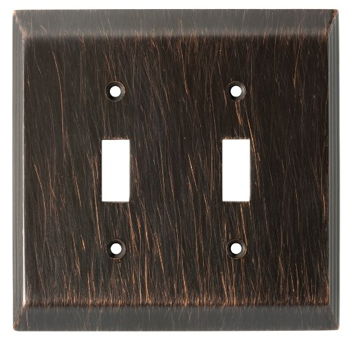 Franklin Brass 126409 Stately Double Toggle Switch Wall Plate / Switch Plate / Cover, Venetian Bronze by Franklin Brass (Wall Double Bronze Switch Plate)