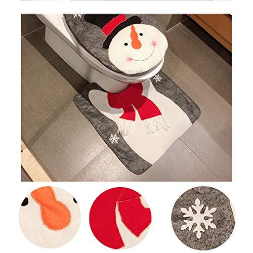 Copri Wc Babbo Natale.Pertaka 2pcs Copriwater E Copri Serbatoio Di Natale Set Wc Natale