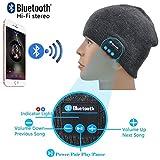 I-Sonite (Dunkelgrau Unisex One Size Winter-Strickmütze mit Built-in Wireless Stereo-Lautsprecher-Kopfhörer für Chuwi HiBook Pro