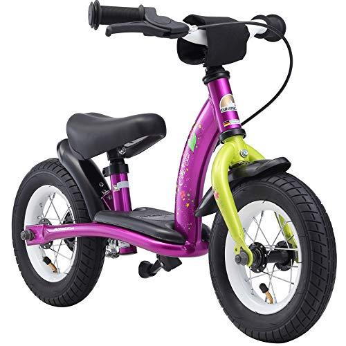 BIKESTAR Kinder Laufrad Lauflernrad Kinderrad f&uumlr M&aumldchen ab 2-3 Jahre | 10 Zoll Classic Kinderlaufrad | Berry & Weiß