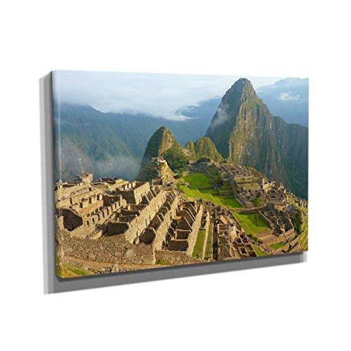 Machu-Picchu-KUNSTDRUCK-auf-Leinwand-20x30-cm-zum-VERSCHNERN-IHRER-WOHNUNG-Verschiedene-Formate-AUF-ECHTHOLZRAHMEN-HCHSTE-QUALITT-UMWELTBEWUSST-hergestellt-MIT-GARANTIE