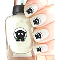 Childrens Nail Art Stickers - Fun and easy to use! Ideal Christmas Present / Gift - Great Stocking Filler Sheep