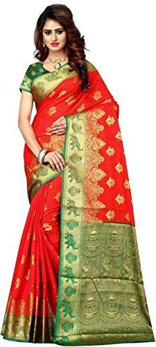 Vatsla Enterprise Self Design Paithani Banarasi Silk (VSWNRNRCHORANGE013)