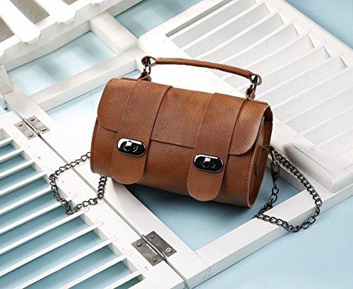 Eimer tasche handtasche Schulter Schräge Kreuz Die Kette der weiblichen einfachen mini-tasche hellbraun