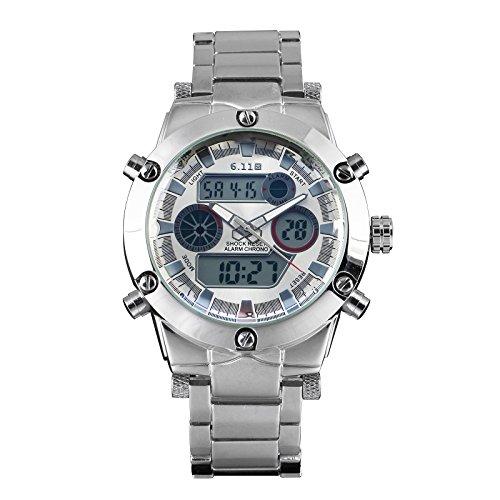 Herren Digital Analog Uhren Quartz Uhren Kalender Multifunktion Armbanduhr