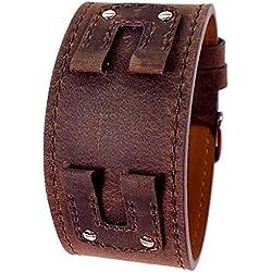 Bruno Banani Unterlagenband Uhrenarmband Leder braun für XT Evolution Square Ladies BR20955
