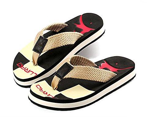 De Hombres Sandalias La De color Casual Playa Verano Zapatos Zapatillas Aluk Lágrimas Y Antideslizante Negro Talla 44 Desgaste De Cómodo pgFqCgn6w