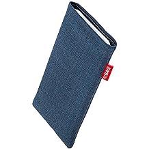 fitBAG Jive Azul - Funda a medida, Exterior de tela, con forro interno de microfibra, para Sony Ericsson Z310 Z310i