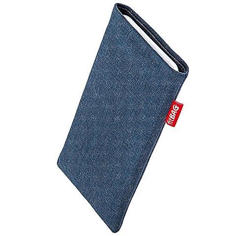fitBAG Jive Bleu housse pochette pour téléphone portable en tissu intérieur en microfibres pour Apple iPhone 5 / 5s / SE 16GB 32GB