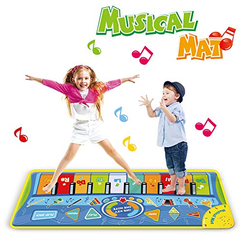 Anpro Alfombra Piano para Niños,Alfombra Teclado Musical, Alfombra de Baile Táctil, Juguete para Niños, Regalo de Fiestas,Cumpleaños,Navidad