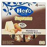 Hero Muesly Supreme, Mandorle e Cioccolato Bianco - 4 Barrette da 24 gr