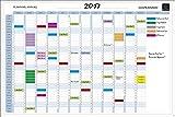 Exacompta 56150E Planning annuel magnétique kit avec accessoires 90x59cm...