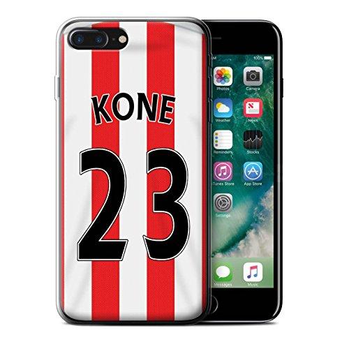 Offiziell Sunderland AFC Hülle / Gel TPU Case für Apple iPhone 7 Plus / Yedlin Muster / SAFC Trikot Home 15/16 Kollektion Kone