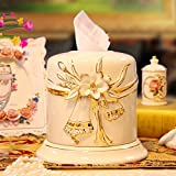 HUAZHUANGXIANGBAO Rollo de Papel jardín de cerámica Casete de Papel Cartucho Carrete Cilindro Europeo Carrete de Tejido Original de Papel de Bombeo