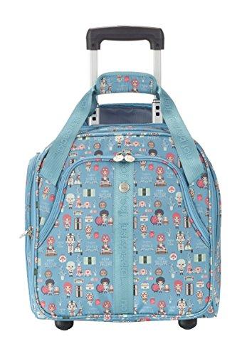 Travelite Lil'Ledy Buntes Reisegepäck/Rucksack/Kindertrolley/Handtasche/Underseater Bordtrolley/Reisekoffer, Weichschale, Hartschale, in Kawaii Optik, 40 cm, 29 l, türkis