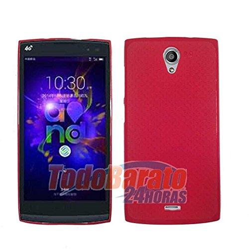 Funda Roja Gel Tpu para Orange Nura / Alcatel One Touch M812