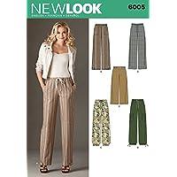 New Look 6005 - Cartamodello per pantaloni da donna 0fbf0727d0e5