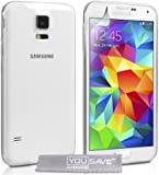 Yousave Accessories Ultra Thin Silicone Cover Case for Samsung Galaxy S5 - Clear