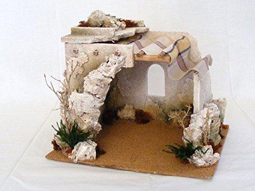 Capanna araba 25 cm accessori edifici presepe
