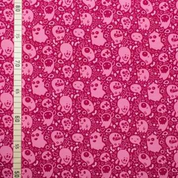 Süße Geister - Pink - Meterware 150 cm breit (Ghostbusters Kostüm Diy)
