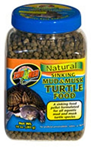 Zoo Med Natural Sinking Mud & Musk Pellet Formulated Aquatic Turtle Food 21.5oz