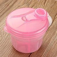 Hrph Caja portable de leche en polvo de alimentación del bebé dispensador de contenedores de tres del enrejado del compartimiento de almacenamiento