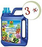 Oleanderhof® Sparset: 3 x COMPO Gartendünger Blaukorn® NovaTec® flüssig, 2,5 Liter + gratis Oleanderhof Flyer