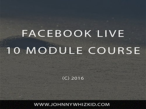 Facebook Live Training Course Cover