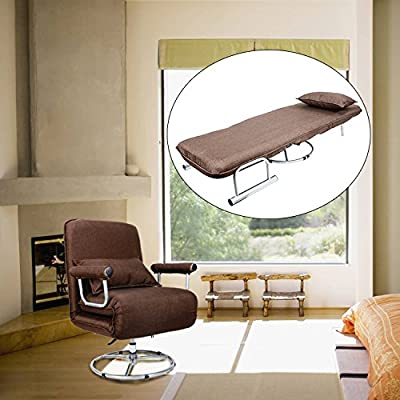 CO-Z 5 Position Folding Sleeper Chair Convertible Sofa Bed Lounge Couch produced by CO-Z - quick delivery from UK