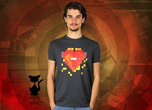 Ein Herz Für Den Einen Gamer - Herren T-Shirt von Kater Likoli Anthrazit