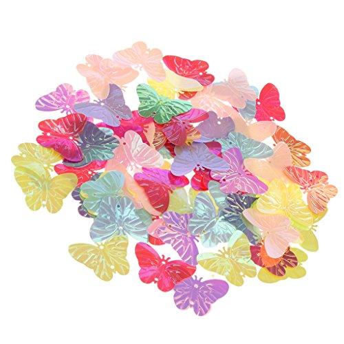 Homyl Glitter Konfetti für Geburtstag Jubiläums Party Supplies Tischdekoration - Bunt Schmetterlings, 2,5 x 3 cm