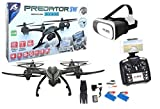 Drone radiocontrol grande con cámara Predator FPV Wifi + Gafas VR. Pilota como si estuvieras dentro del drone. 2 baterias incluidas