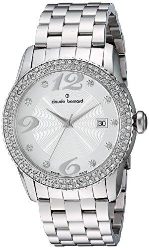 Claude Bernard Women's 70161 3PM AN Ladies Fashion Analog Display Swiss Quartz White Watch