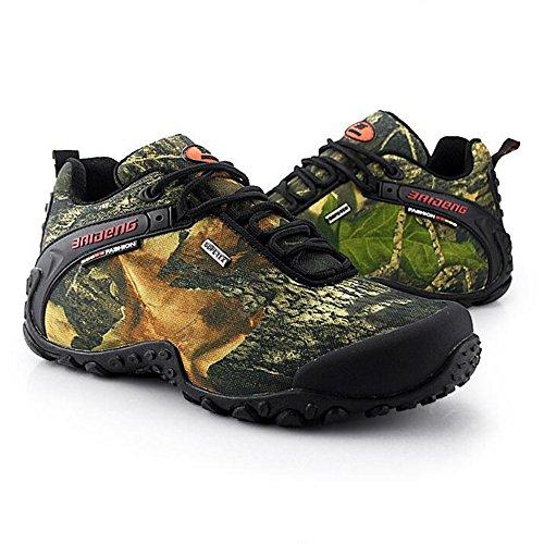 Newbestyle Homme Chaussures Sports de Plein Air Randonnée Chaussures Basses Respirant et Confortable Pour le Printemps et L'automne Jaune