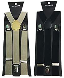 Atyourdoor Y- Back Suspenders for Men(BrownBlacksus2)
