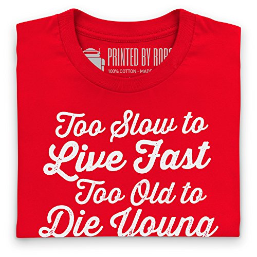 Live Fast Die Young T-Shirt, Herren Rot