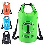 Funny Tree® Drybag. (20L grün) Wasserdichter (IPx6), verbesserter DryBag, schwimmfähig. Inklusive wasserdichter Handy-Hülle   Stand Up Paddle   Wassersport   Ski-Fahren   Snow-Boarden   Tauchen