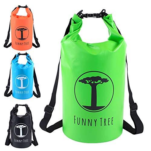 (20L grün) Wasserdichter (IPx6), verbesserter DryBag. Inklusive Wasserdichter Handy-Hülle | Stand Up Paddle | Angel Zubehör | schwimmfähig | Sling Bag | Ski-Fahren | Snow-Boarden ()