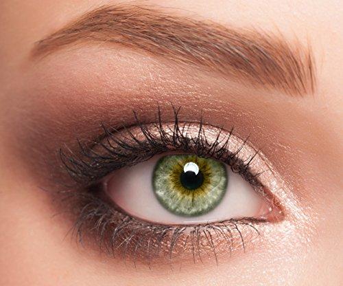 ELFENWALD farbige Kontaktlinsen, 3-Monatslinsen, besonders natürlicher Look, maximaler Tragekomfort, SUPREME Serie, ohne Stärke, 1 Paar weiche Farblinsen ohne Zusatzbehälter (Elfenbein)
