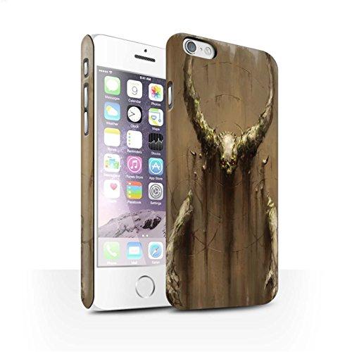 Offiziell Chris Cold Hülle / Matte Snap-On Case für Apple iPhone 6 / Pack 10pcs Muster / Dunkle Kunst Dämon Kollektion Hörner
