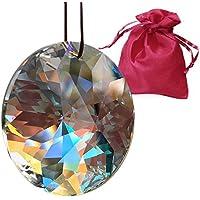 Kristall Sonne ø 40mm Aurora Boreale im feinem Geschenkbeutel Hoch Brillant Regenbogenkristall Feng Shui Fenster-Deko 30% Bleikristall bunt