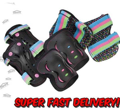 sfr-essentials-scooter-skate-junior-triple-pad-set-disco-s-m-l