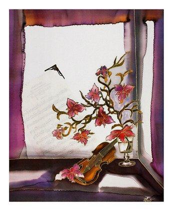 Germanposters Annemarie Loew Poster Kunstdruck Bild Stilleben mit Geige 57x47cm