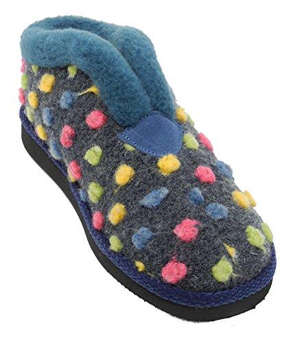 Léger pour femme Fourrure Bottes Chaussons Pantoufles utilisateurs dormant Taille 345678 Bleu - bleu